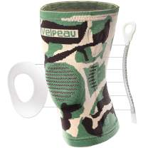 Velpeau Knee Brace - Best Knee Support with Patella Gel Pads & Side Stabilizers - Compressive Stabilized Sleeve of The Knee, Provides Relief of Pain, Weak, Swollen & Injured Knees - Camouflage, Small