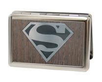 Buckle-Down Metal Wallet - Superman Logo Marquetry Black Walnut/metal Accessory