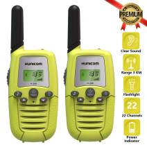 HUNICOM Kids Walkie Talkies, Clear Sound Toy Walkie Talkies for Kids, Friendly Design Toddlers Two Way Radio for Boys and Girls, Kids Walky Talky for Family Activities, Camping, Hiking, Biking