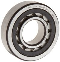FAG NU2305E-TVP2-C3 Cylindrical Roller Bearing, Single Row, Straight Bore, Removable Inner Ring, High Capacity, Polyamide Cage, C3 Clearance, 25mm ID, 62mm OD, 24mm Width