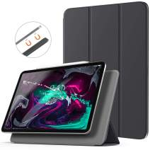 "TiMOVO Case for iPad Pro 12.9"" 2018, [Support Pencil Charging] Magnetic Attachment, Trifold Stand Magnetic Smart Case with Auto Sleep/Wake fit iPad Pro 12.9"" 3rd Gen (2018 Release), Space Gray"