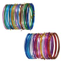 PandaHall Elite 30 Rolls 2 Sizes 15 Colors 16 Feet/Roll Aluminum Craft Wire Flexible Metal Artistic Floral Jewely Beading Wire 18 Gauge 20 Gauge for DIY Craft Jewelry Making