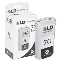 LD Remanufactured Ink Cartridge Replacement for HP 70 C9448A (Matte Black)