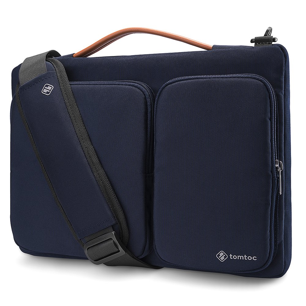 tomtoc 360 Protective Laptop Shoulder Bag for 12.3 inch Surface Pro X/7/6/5/4, 13-inch New MacBook Air Retina Display A2179 A1932, MacBook Pro A1989 A1706 A1708, Notebook Accessory Case Sleeve