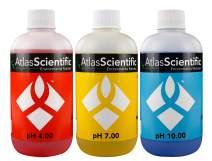 Atlas Scientific pH 4.00, 7.00, 10.00 Calibration Solution 250ml - 8oz (Pack of 3)