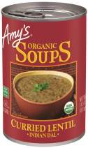 Amy's Organic Soups, Curried Lentil, 14.5 Ounce (Pack of 12)