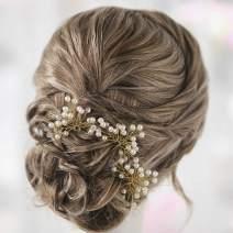 Yean Pearl Bridal Hair Pins Wedding Hair Piece Fashion Hair Accessories for Women and Girls