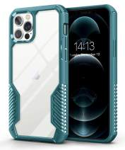 MOBOSI Vanguard Armor Compatible with iPhone 12 Pro Max Case,Rugged Cell Phone Cases,Heavy Duty Military Grade Shockproof Drop Protection Cover 6.7 inch 2020 (Turquoise)