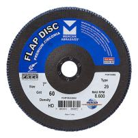 "Mercer Industries 333060 Zirconia Flap Disc, High Density, Type 29, 7"" x 7/8"", Grit 60, 10 Pack"