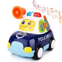 Zooawa Police Car Toy with Music and Light Electronic Baby Toys Educational Learning Birthday Gift Present for Toddlers Boys and Girls