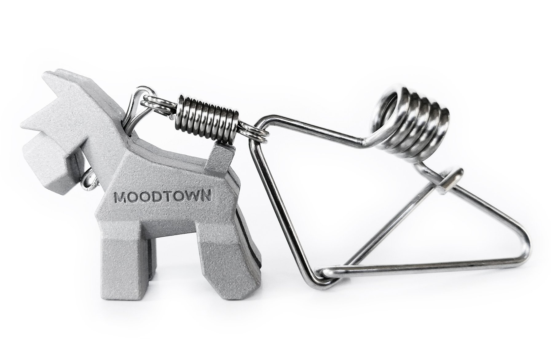 MOODTOWN Handcrafted Stainless Steel Dog Keychain Gift for Men and Women- Schnauzer Puppy Car Keyring Car Rear View Mirror Hanging Accessory