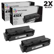 LD Compatible Toner Cartridge Replacement for HP 410X CF410X High Yield (Black, 2-Pack)