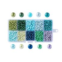 Beadthoven 1Box Mixed Color 4mm Round Glass Pearl Beads Dyed Loose Beads for Making Bead Necklace Bracelet Earrings & Choker DIY Crafts Accessories