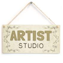 "Meijiafei Artist Studio - Beautiful Home Accessory Gift Sign 10""x5"""