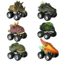 dmazing Toys for 2-6 Year Olds Boys Kids, Pull Back Dinosaur Cars Toys for 3-6 Year Old Boys Toys for 3-4 Year Olds Educational Kids Toys Birthday Gifts for 3-6 Boys Party Favors 6 Pack