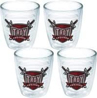 Tervis 1043008 Troy Trojans Sword Tumbler with Emblem 4 Pack 12oz, Clear