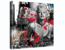 Yatsen Bridge Sexy Marilyn Monroe Printed Painting on Canvas Wall Art Black White Red Prints Picture for Living Room Home Decorations Framed(30''W x 40''H)
