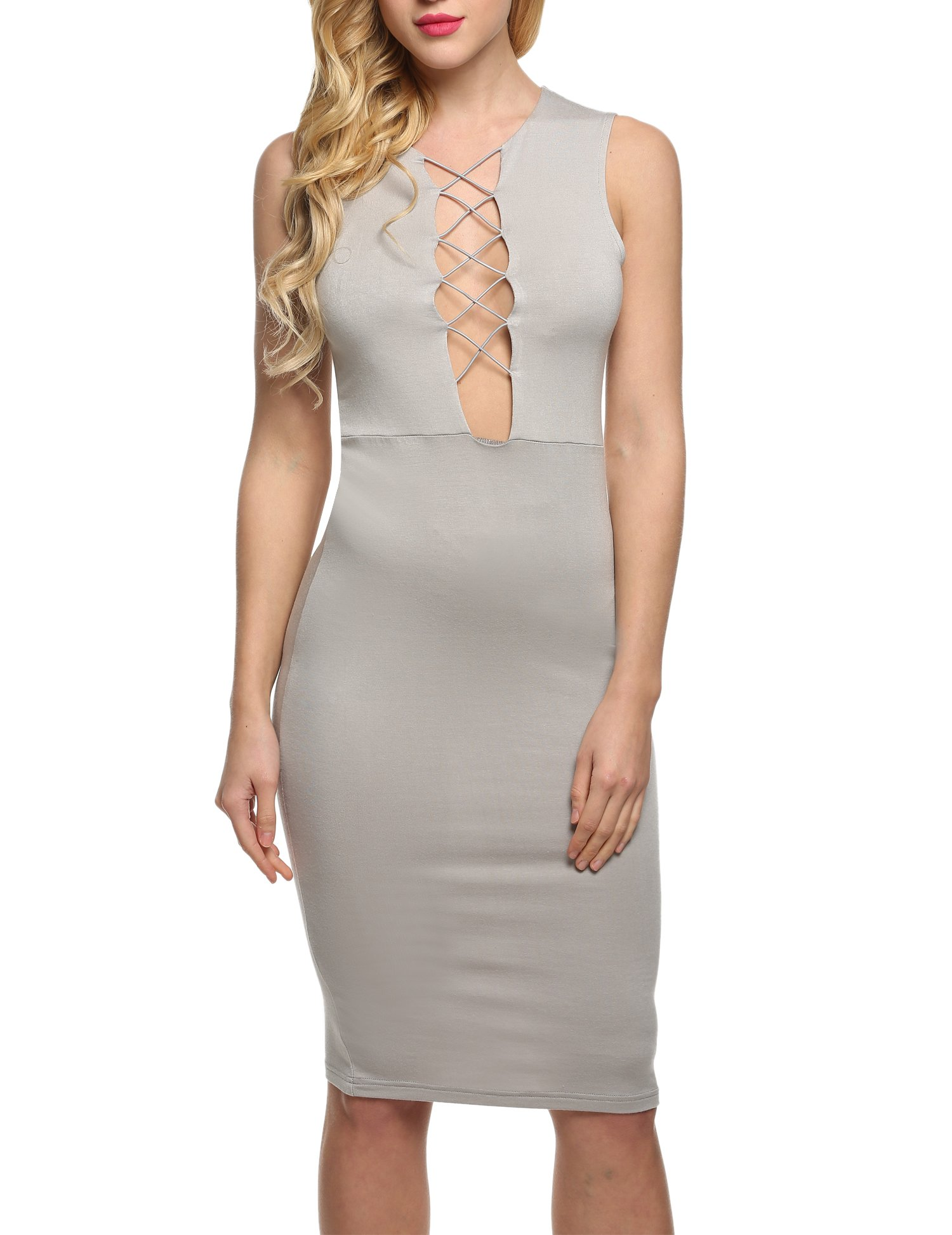 Zeagoo Women's Velvet Sexy Bodycon Backless Spaghetti Strap Bandage Slip Mini Party Dress