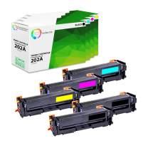 TCT Premium Compatible Toner Cartridge Replacement for HP 202A CF500A CF501A CF502A CF503A Works with HP Color Laserjet Pro MFP M280NW M254DW M281FDW Printers (Black, Cyan, Magenta, Yellow) - 5 Pack