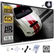Varmax Video Projector Screen 84 inch Lightweight Wrinkle-Free Polyester Material for Home Movie Night and Powerpoint Presentation 16:9 192cm x 112cm