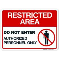Sigo Signs Authorized Personnel Only Sign, Restricted Area Sign, Do Not Enter, 10x14 Heavy 0.40 Aluminum, Fade Resistant, Indoor/Outdoor Use, Made in USA