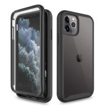 Yunerz Compatible iPhone 11 Pro Case, iPhone 11 Pro Case with Built-in Screen Protector Shockproof Heavy Duty Three Layer Full-Body Protection Case for iPhone 11 Pro 2019 5.8inch(Black)