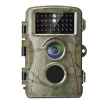 Trail&Hunting Camera-Waterproof Wildlife Hunting Cams 12MP 720P Motion Activated Infrared Night Vision Scouting with Observing Wild Animals and Outdoor Surveillance for Hunter Time Lapse Monitoring