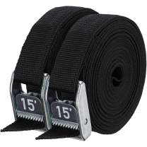 """NRS 1"""" Heavy Duty Tie Down Strap 2 Pack"""