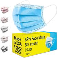 Ceemly 3Ply Disposable Face Mask USA Made, Single-Use