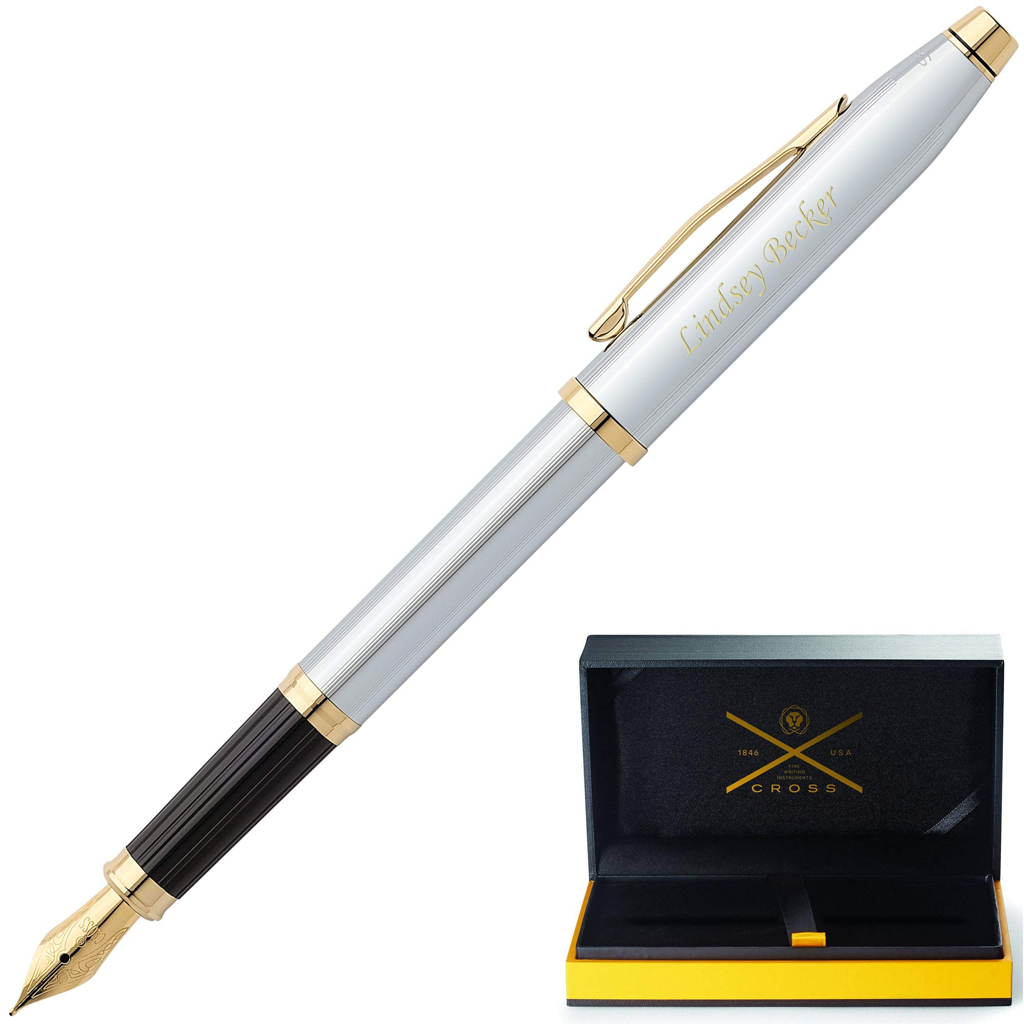 Cross Pen   Personalized/Engraved Cross Century II Medalist Fountain Pen 3309-MS. Custom Engraving Included! Comes in Cross Gift Box.