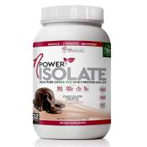 nPower Nutrition Grass Fed Whey Protein Isolate Powder, Chocolate Truffle, 20g Protein, 5g BCAA, Low Carb, Lactose Free, 1.7 lb Tub