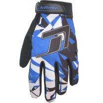 GP-30 Jet Ski Recreation Gloves - Shattered PWC Jetski Ride Gear (Blue, Small)