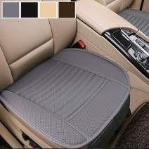 Big Ant Car Seat Cushion, 1PC Breathable Car Interior Seat Cover Cushion Pad Mat for Auto Supplies Office Chair with PU Leather(Grey)