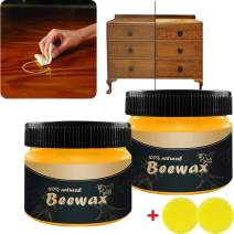 Wood Seasoning Beewax - Traditional Beeswax Polish for Wood & Furniture, All-Purpose Natural Beewax with Sponge for Wood Cleaner and Polish Wipes Furniture Care to Beautify & Protect, No Build-Up