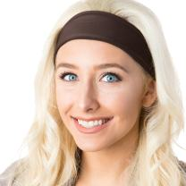 Hipsy Xflex Basic Adjustable & Stretchy Wide Sports Headbands for Women
