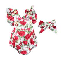 Summer Newborn Baby Girls Clothes Floral Jumpsuit Romper Playsuit + Headband Outfits