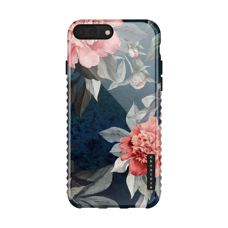 iPhone 8 Plus/iPhone 7 Plus case Flower, Akna GripTight Series Flexible Silicon Cover for Both iPhone 7 Plus & 8 Plus (802-U.S)