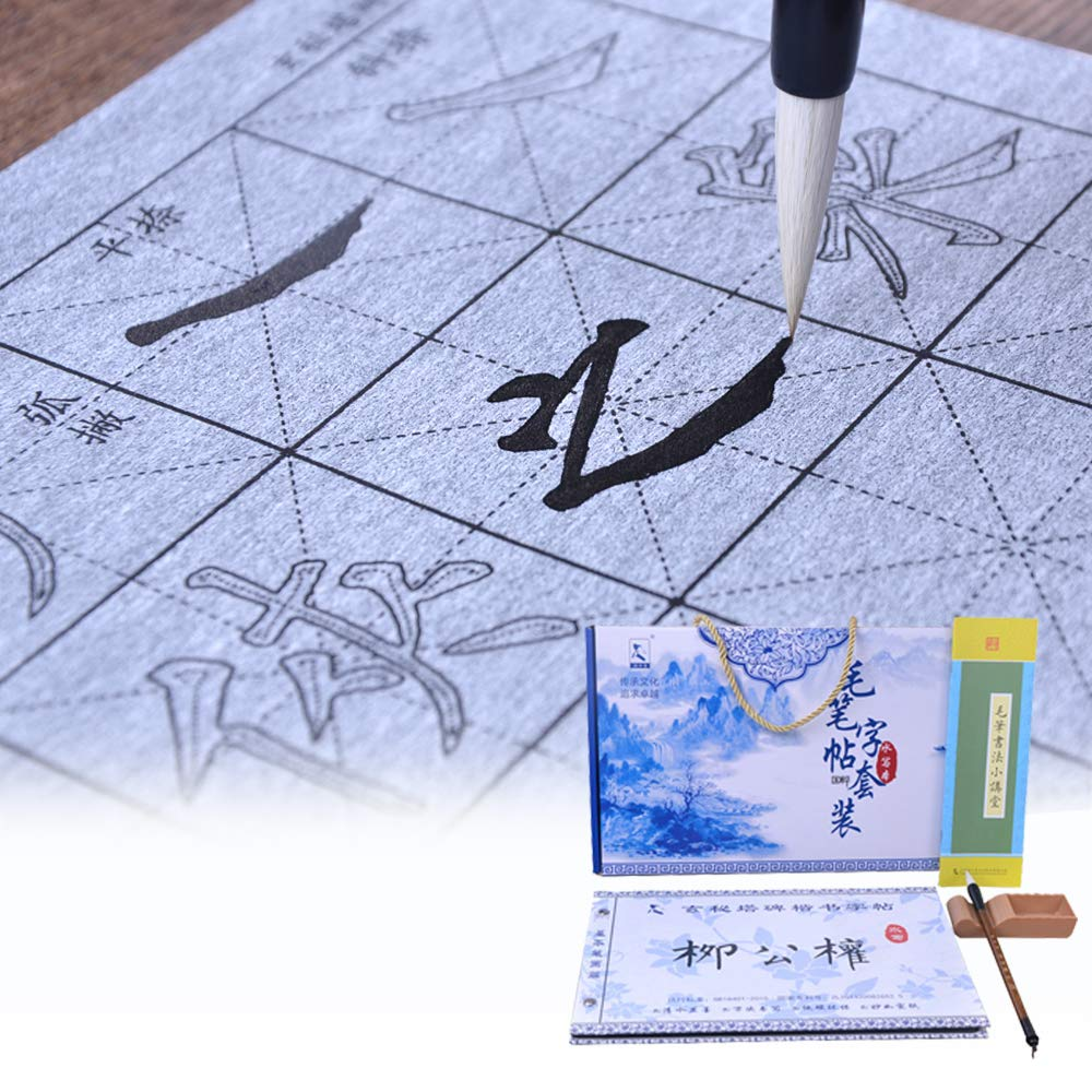 Tianjintang Eco-Friendly Chinese Calligraphy Water Writing Magic Book Set for Calligraphy Learners Liu Gongquan 柳公权 Xuanmita Bei 玄秘塔碑