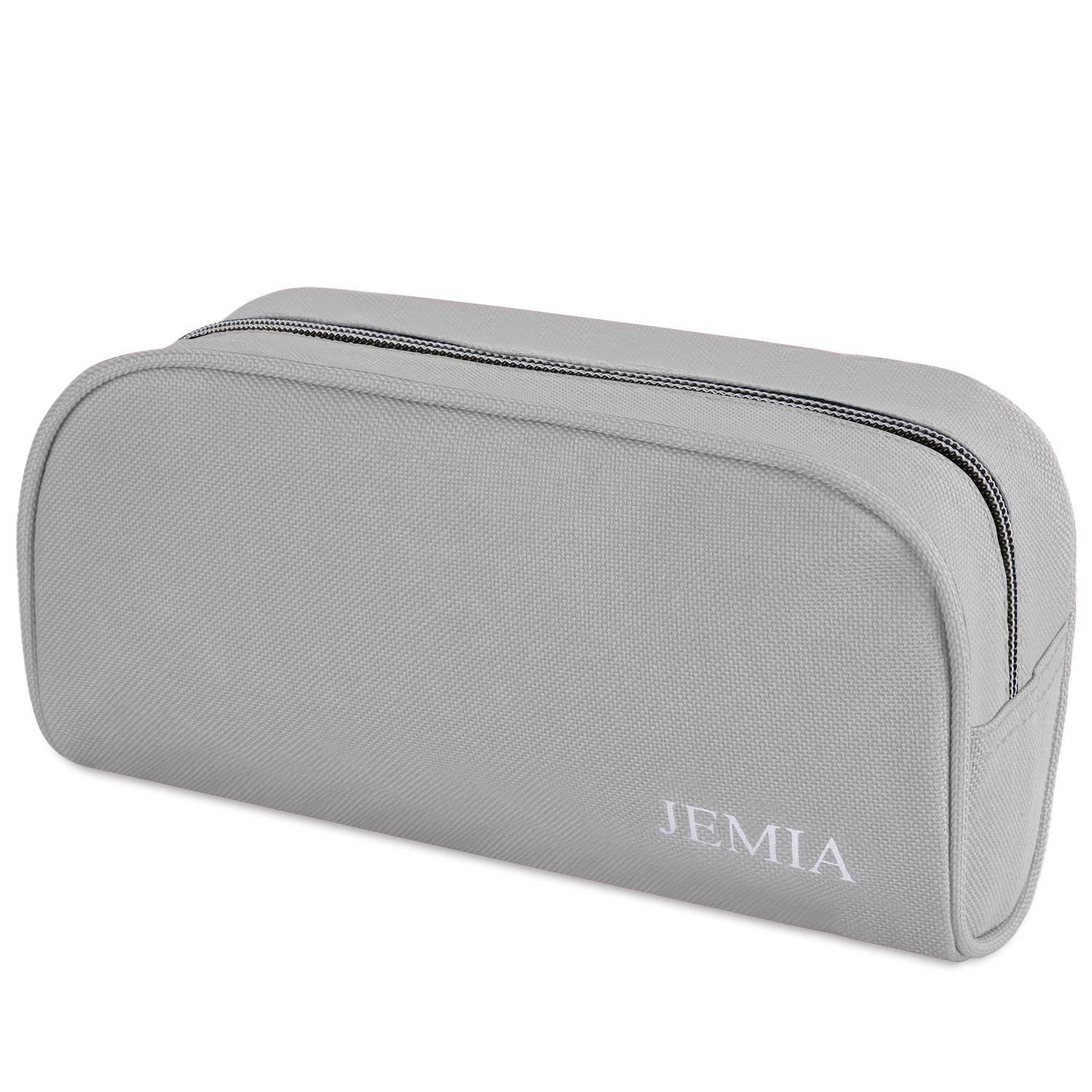 JEMIA Single Compartments Collection 1 Independent Zipper Chambers with Mesh, Zip Pockets Pencil Case (Gray, Polyester)
