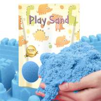 Dino Sand Refill Pack-3 Pound Moldable and Non Stick Moving Sand in a Resealable Bag Indoor Outdoor Activity Creative Educational Toys Sand (Blue Color)