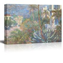 wall26 - Villas at Bordighera by Claude Monet - Impressionist Modern Art - Canvas Art Home Decor - 32x48 inches