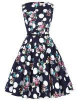 Sleeveless Classy Vintage Tea Dress with Belt Size XL F-53