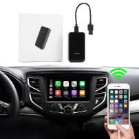 Wireless CarPlay Adapter 2.0 for Factory Wired CarPlay Cars, Wired to Wireless CarPlay Dongle for Audi/Porsche/Volvo/Volkswagen,Online Upgrade Adapter,iOS 13-14,Plug & Play,Type C Design (Black)