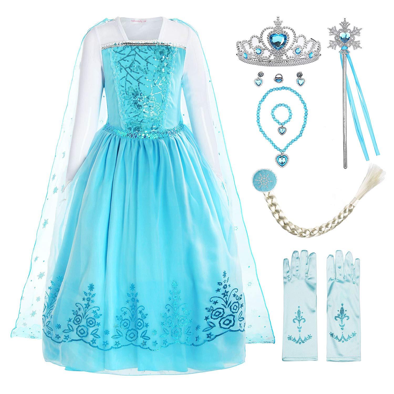 ReliBeauty Girls Sequin Princess Costume Long Sleeve Dress up