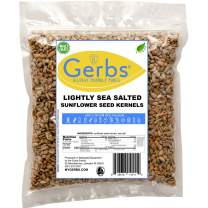 Lightly Sea Salted Sunflower Seed Kernels 14oz. Bag by Gerbs – Top 14 Food Allergy Free & NON GMO - Vegan, Keto Safe & Kosher - Dry Roasted & Grown in USA