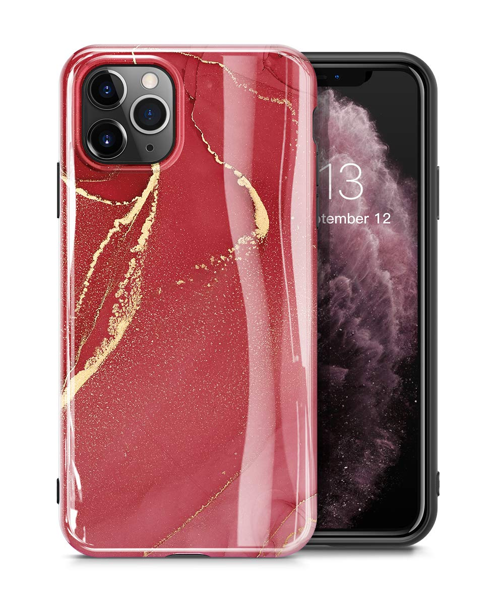 GVIEWIN Marble iPhone 11 Pro Case, Ultra Slim Thin Glossy Soft TPU Rubber Gel Phone Case Cover Compatible iPhone 11 Pro 5.8 Inch 2019 Release (Sand Red)