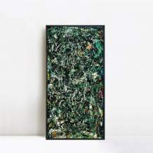 """INVIN ART Framed Canvas Giclee Print Art Full Fathom Five by Jackson Pollock Abstract Wall Art Living Room Home Office Decorations(Black Slim Frame,20""""x40"""")"""