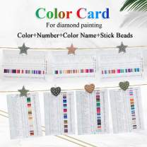 Diamond Painting Tools Color Card Chart Booklet for Diamond Painting, Color Codes Unique Diamond Art All Color Numbers,Ideal Gift Accessories Kits for Mother Kids Adults