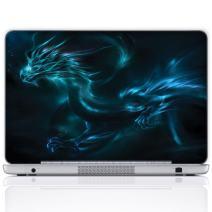 Meffort Inc 17 17.3 Inch Laptop Notebook Skin Sticker Cover Art Decal (Free Wrist pad) - Blue Dragon