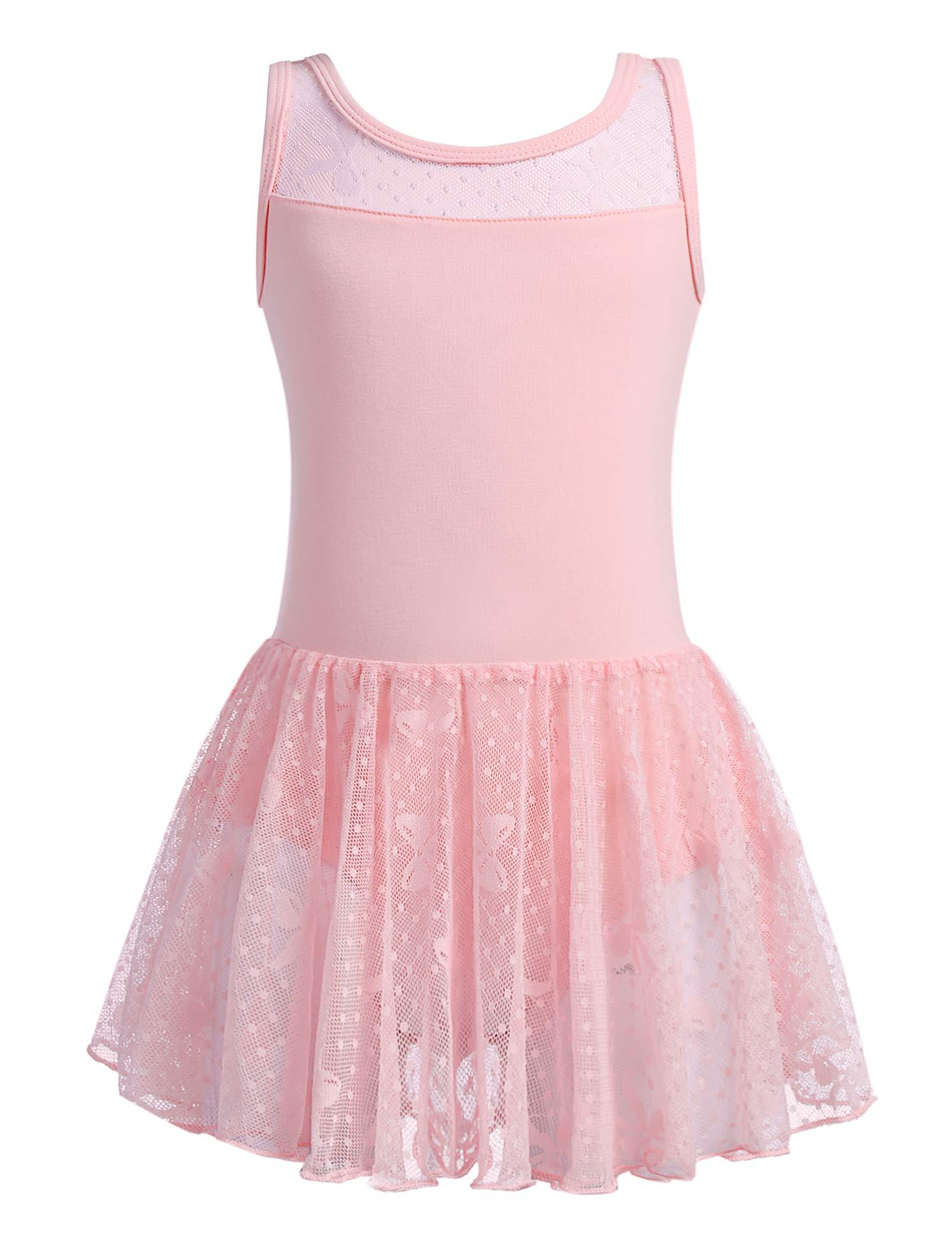 Zaclotre Girls Ballet Leotards for Toddlers Skirted Dance Ballerina Dress